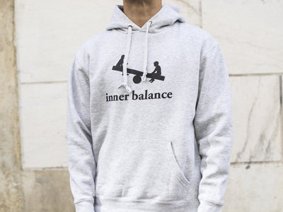 Inner Balance Hoodie logo (grey)